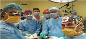 Cirujanos que llevaron a cabo el trasplante. Foto: Stellenbosch University